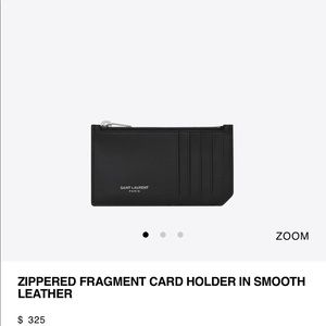 YSL FRAGMENTS CARD CASE CARDHOLDER WITH ZIPPER